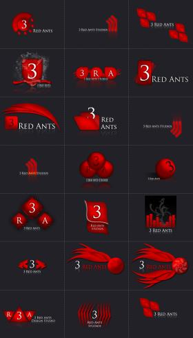 3 Red Ants Logotype's