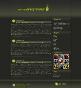 Wordpress Template no.7 - Green Fluid