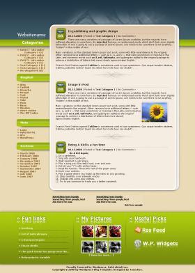 Wordpress Template no.9 - Nature