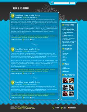 Wordpress Template no.10 - Blue World