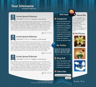 Wordpress Template no.12 - Blue Imagination
