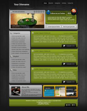 Wordpress Template no.13 - Green Harmony