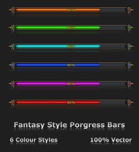 Fantasy Style Progress Bars