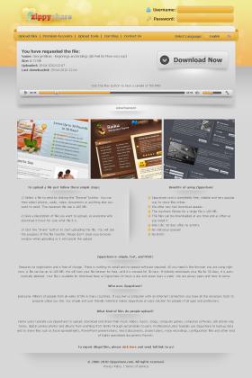 Zippyshare.com Redesign