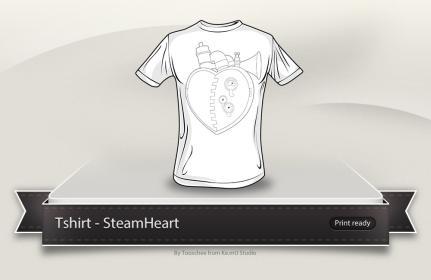 SteamHeart t-shirt